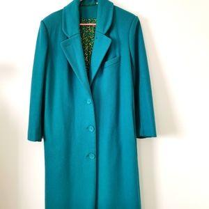 Green size 6 vintage  wool coat